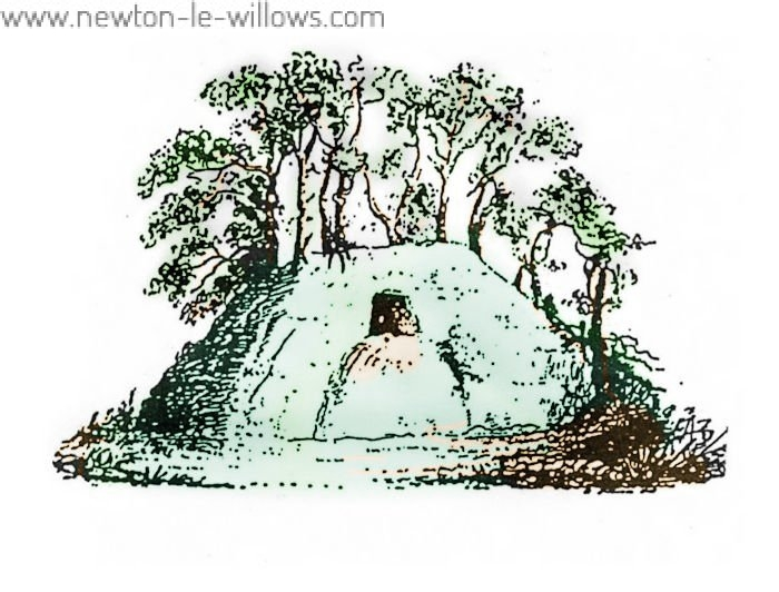 Castle Hill - Sketch from the title page of the leaflet describing the excavations